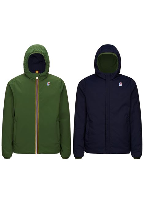 Jacques warm double blue e verde K-WAY | Giubbini | K111JKWA08