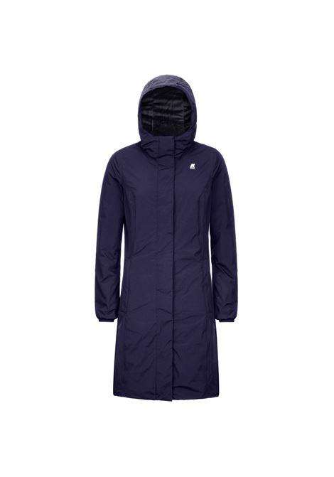 Charlene micro ripstop blue K-WAY | Overcoat | K2112WWA39