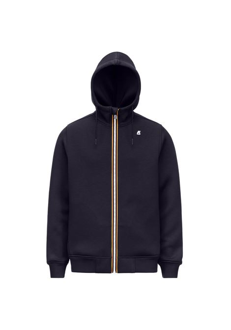 Rainer spacer dark blue hooded sweatshirt K-WAY | Sweatshirt | K21171WK89