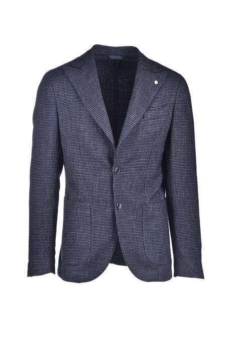 Blazer in fresco lana pied de poule grigio L.B.M. | Giacche | 951405
