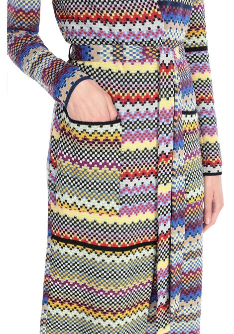 Cappotto con cinta patchwork quadretti M MISSONI | Cappotti | 2DA00038/2K0066SM26D