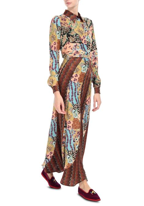 Gonna lunga in seta jacquard M MISSONI | Gonne | 2DH00161/2W0069S00FN