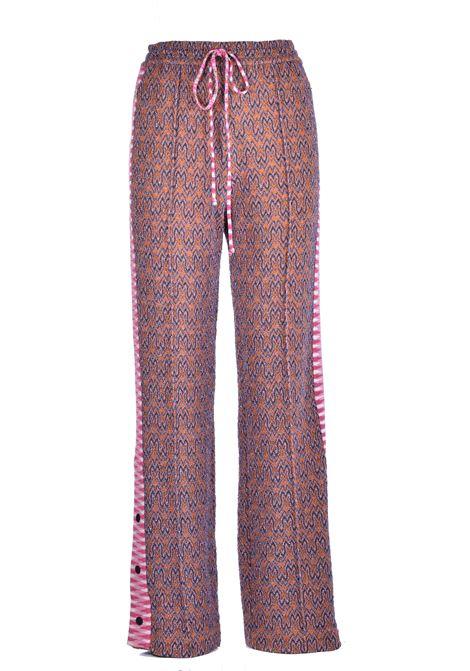 Pink lurex jacquard trousers M MISSONI | Trousers | 2DI00218/2W005VL001C