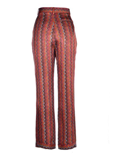 Pantaloni in raso con stampa zig zag M MISSONI | Pantaloni | 2DI00226/2W0067S806R