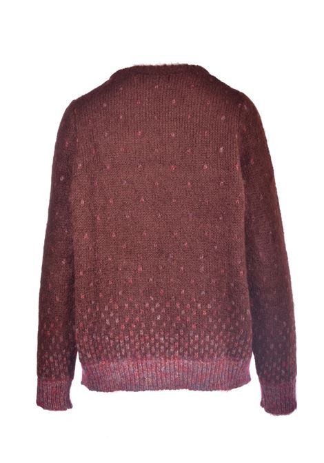 Rust crewneck sweater with lurex MAISON ANJE | Knitwear | LOURCQGDATTE
