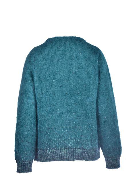 Maglione girocollo verde rosmarino con lurex MAISON ANJE | Maglieria | LOURCQGROMARIN