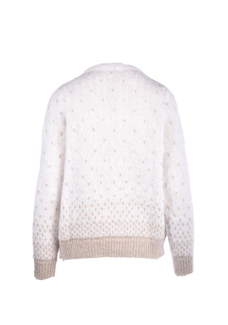 maglione girocollo latte con lurex MAISON ANJE | Maglieria | LOURCQZEST + OR