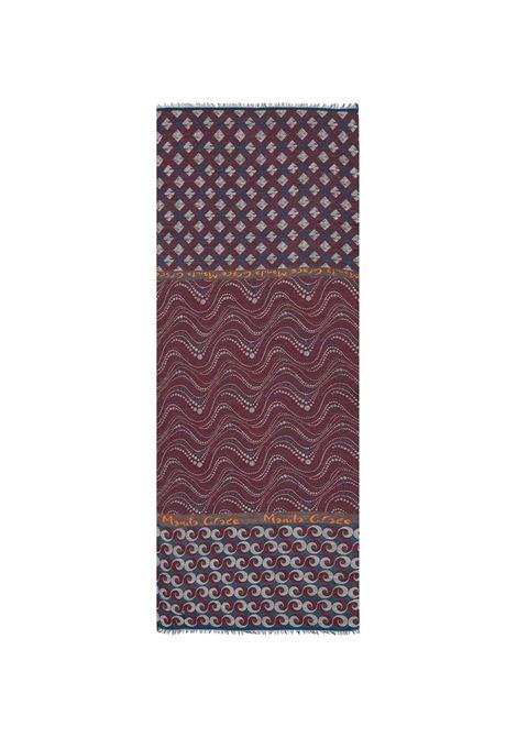Peacock rectangle scarf MANILA GRACE | Scarves | F275AJMD910