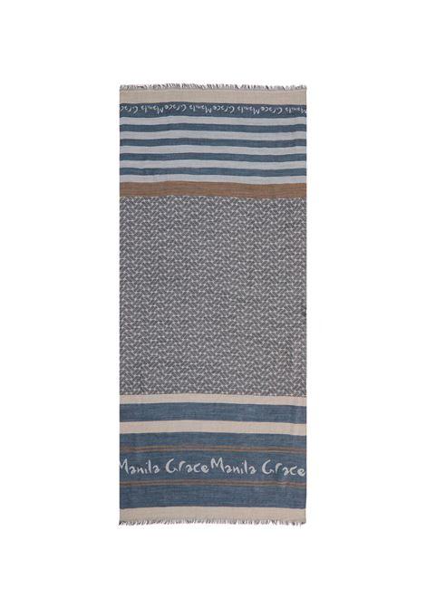 Rectangle scarf - baby blue MANILA GRACE | Scarves | F276AJMD897