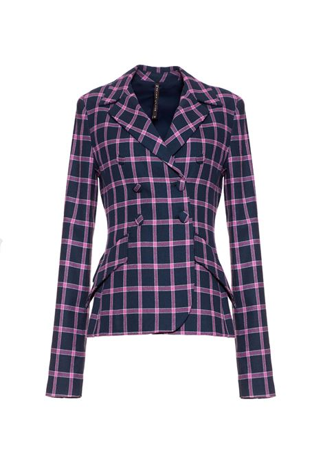 Double-breasted check jacket MANILA GRACE | Blazers | G109CQMD905