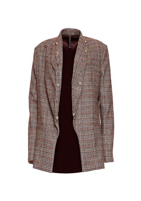 Giacca check con bottoni gioiello MANILA GRACE | Giacche | G155WZMD901