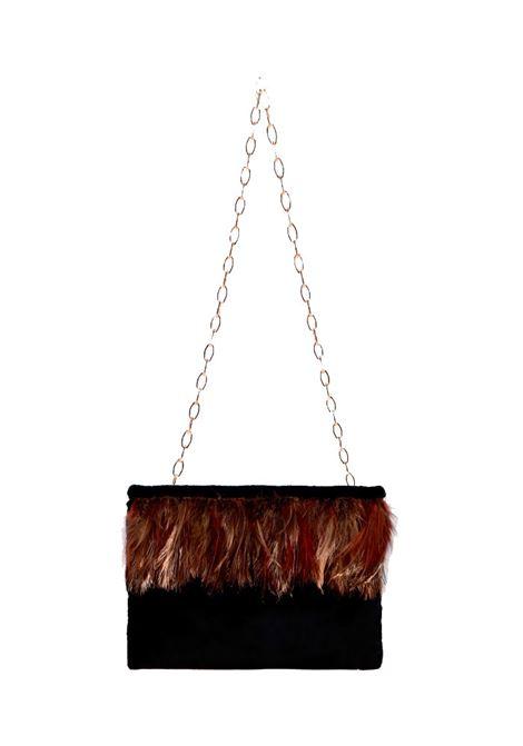 Tiche bag in velluto elegante nero MOMONI | Pochette | MOBC0010990