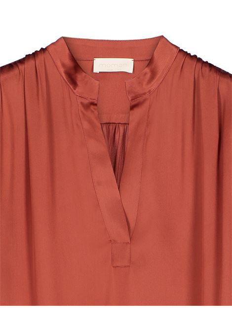 Rust silk blend blouse MOMONI | Blouse | MOBL0030420