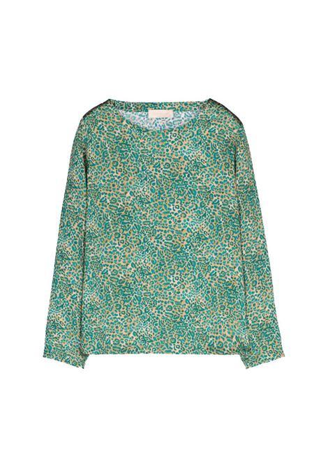 Donut blouse in stretch silk satin MOMONI | Blouse | MOBL0041065