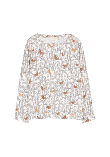 Bombolone patterned blouse with butterflies MOMONI | Blouse | MOBL0041075