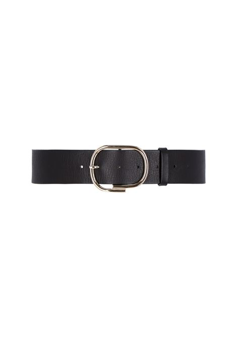 venere Belt in black leather MOMONI | Belt | MOBT0030990