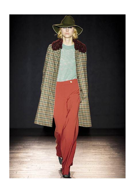 Cappotto in check di lana e cotone con pellicciotto MOMONI | Cappotti | MOCO0010762