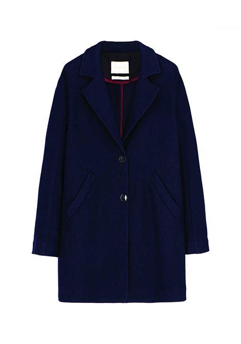 Blue wool twill coat MOMONI   Coat   MOCO0040890