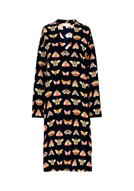 Afrodite Midi dress in black silk crepe de chine MOMONI | Dresses | MODR0069041