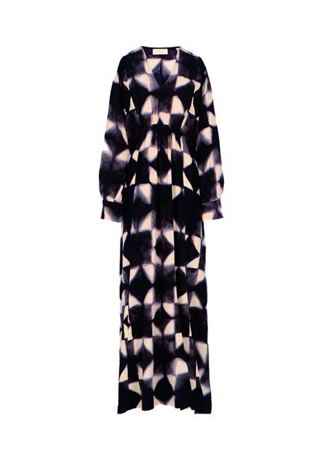 Cleopatra long dress in silk crepe de chine MOMONI | Dresses | MODR0079182
