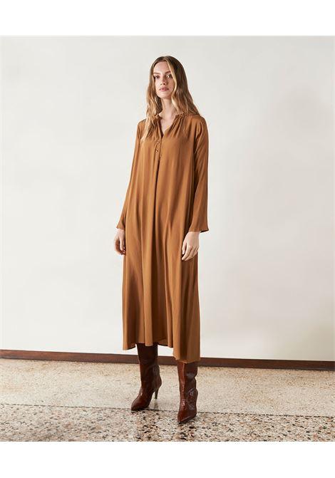 Vestito alla caviglia in creponne misto seta MOMONI | Vestiti | MODR0130640