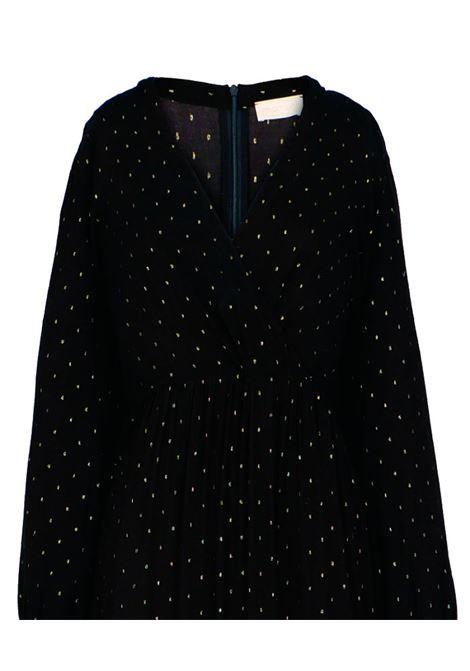 Vestito in viscosa fil coupé nero MOMONI | Vestiti | MODR0230990