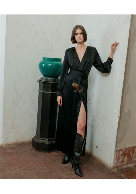Vestito in satin misto seta nero MOMONI | Vestiti | MODR0260990