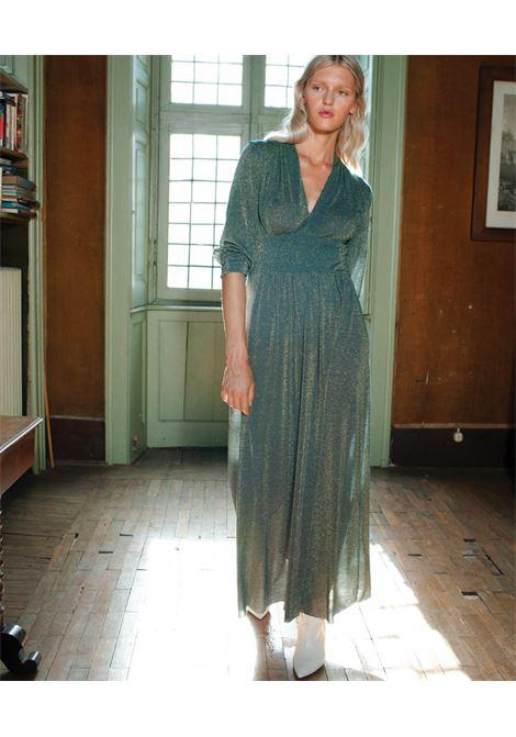Forest-colored lurex jersey dress MOMONI | Dresses | MODR0310789