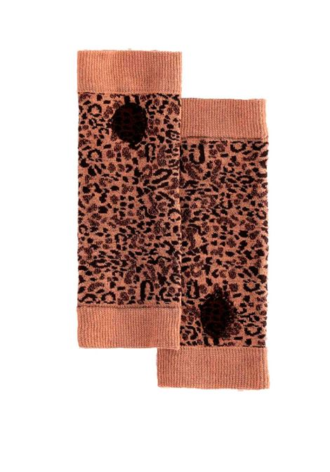 Guantito Turan in jacquard beige e marrone MOMONI | Guanti | MOGL0011085