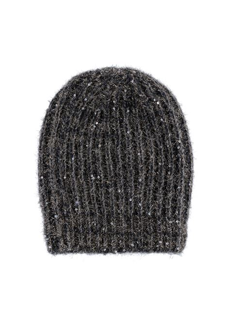 Ununu ribbed hat with sequins - black MOMONI | Hats | MOHA0020930