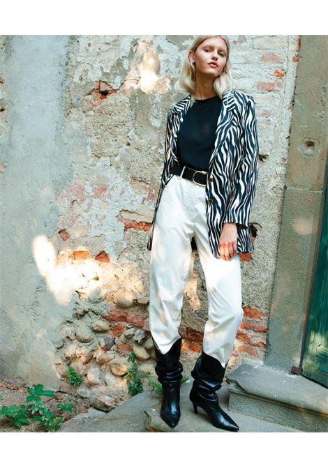 Animal print silk twill jacket MOMONI | Blazers | MOJA0011190