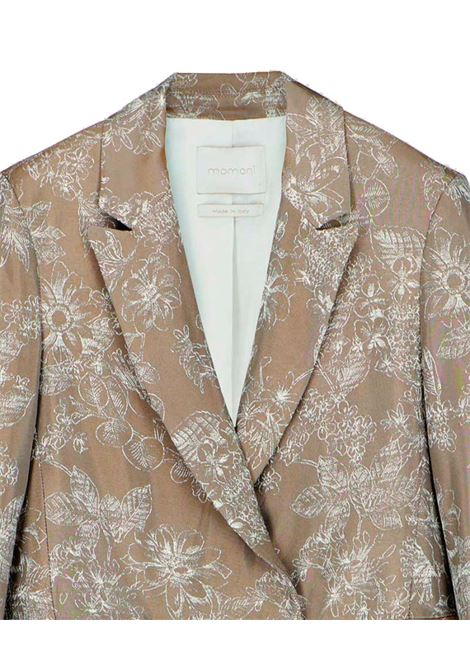 Double-breasted jacket in floral jacquard MOMONI | Blazers | MOJA0020151