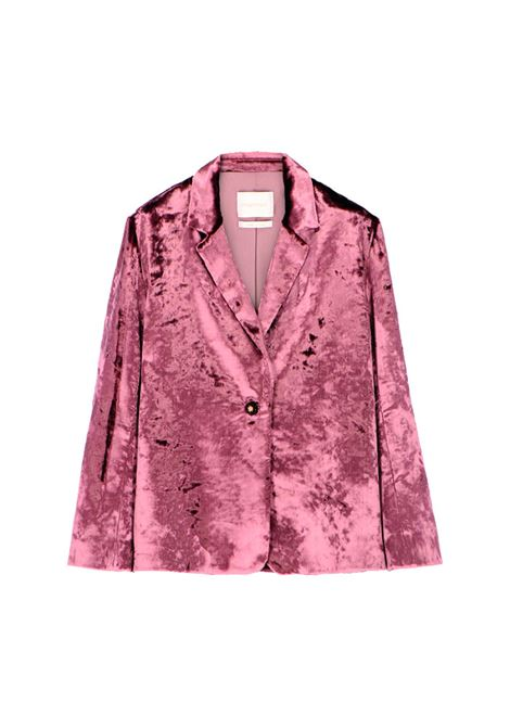 Elegant mauve velvet jacket MOMONI | Blazers | MOJA0090384