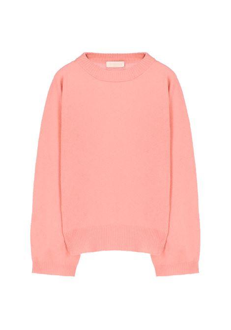 Maglia in lana e cachmere - rosato MOMONI | Maglie | MOKN0050412