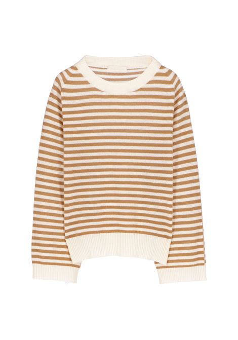 Maglia Odino in lana e cachmere a righe - beige MOMONI | Maglie | MOKN0051082