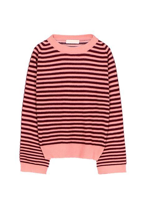 Maglia in lana e cachmere a righe rosa - bordeaux MOMONI | Maglie | MOKN0054021