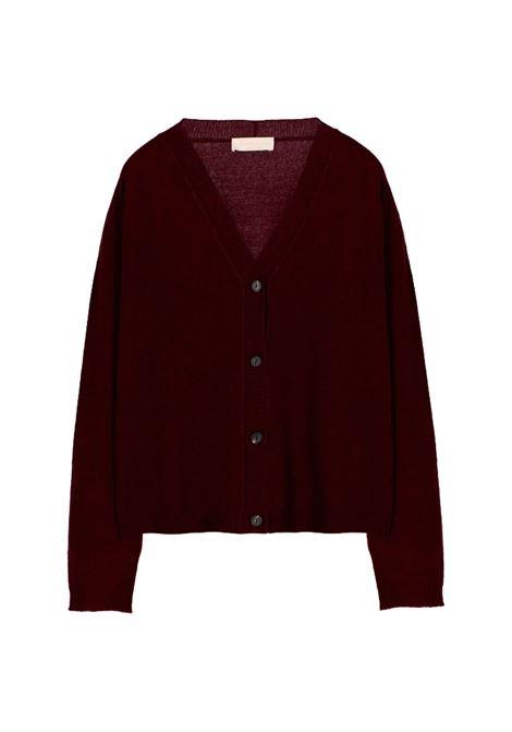 Cardigan ampio in lana e cachmere bordeaux MOMONI | Maglieria | MOKN0070380
