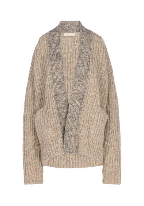Shield cardigan sweater with lurex details MOMONI | Sweaters | MOKN0210040