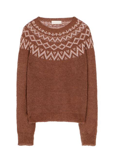Bear sweater with lurex jacquard - burnt MOMONI | Sweaters | MOKN0250618