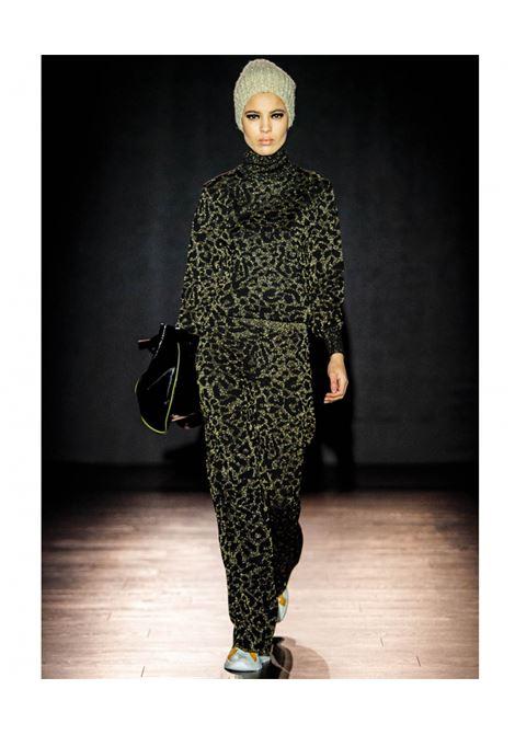 Black animalier jacquard sweater MOMONI | Knitwear | MOKN0260990