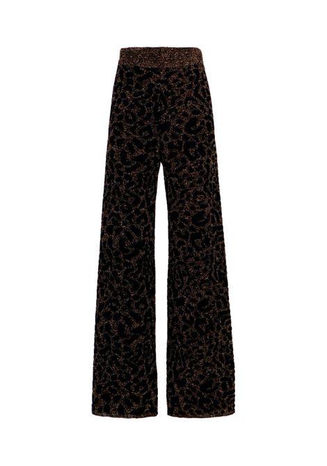 Pantalone in maglia jacquard animalier MOMONI | Maglie | MOKN0270990