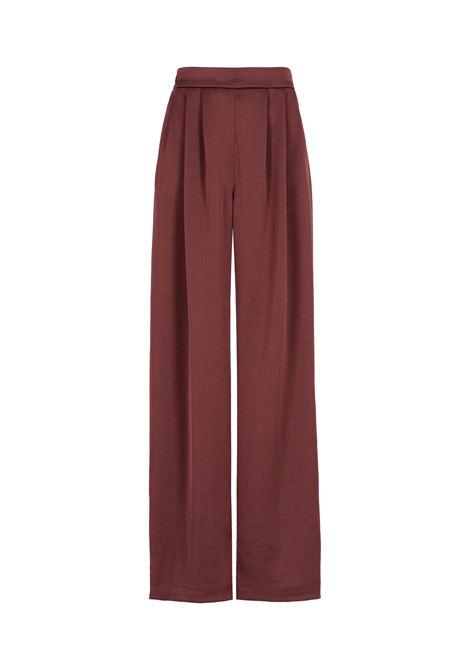 Lanzarote trousers in washed satin - bordeaux MOMONI | Trousers | MOPA0020380