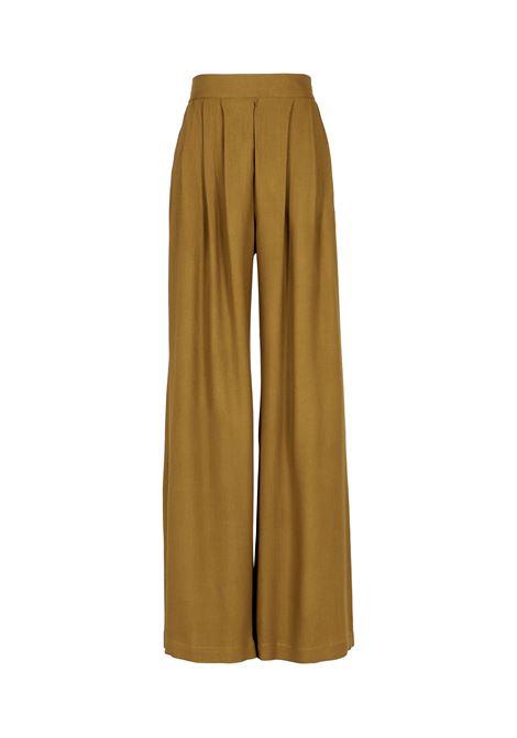 Lanzarote trousers in washed satin - beige MOMONI | Trousers | MOPA0020731