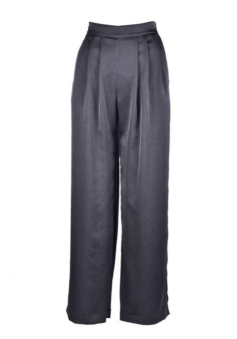 Pantalone Lanzarote in satin lavato - nero MOMONI | Pantaloni | MOPA0020930