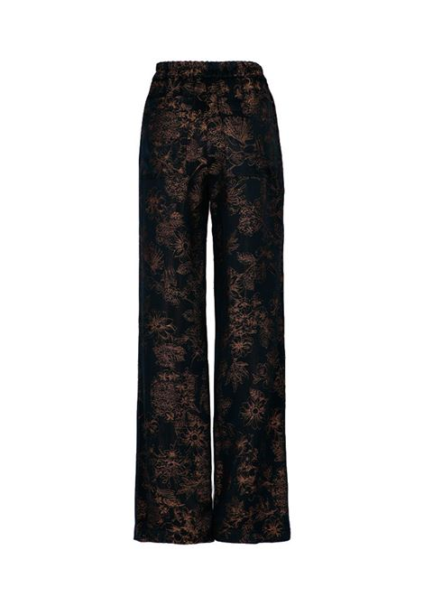 Dundra Black floral jacquard trousers MOMONI | Pants | MOPA0040990