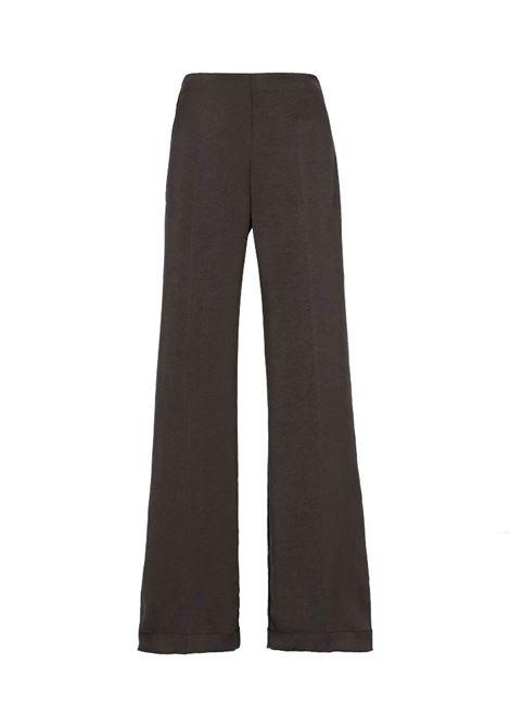 Pantalone in washed satin grigio MOMONI | Pantaloni | MOPA0120930