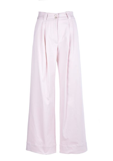 Mother of pearl trousers in stretch gabardine  MOMONI | Trousers | MOPA0160016