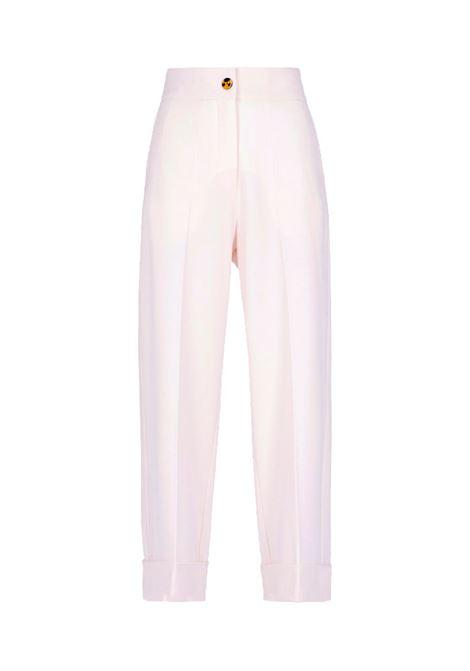 Mokaite pantalone in flanella bistretch bianco MOMONI | Pantaloni | MOPA0180016