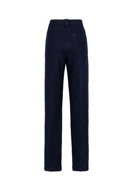 Pantalone in lana vergine lavata blu MOMONI | Pantaloni | MOPA0220890
