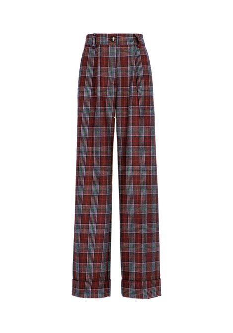 Nefti Wool and cotton check trousers MOMONI | Trousers | MOPA0240660